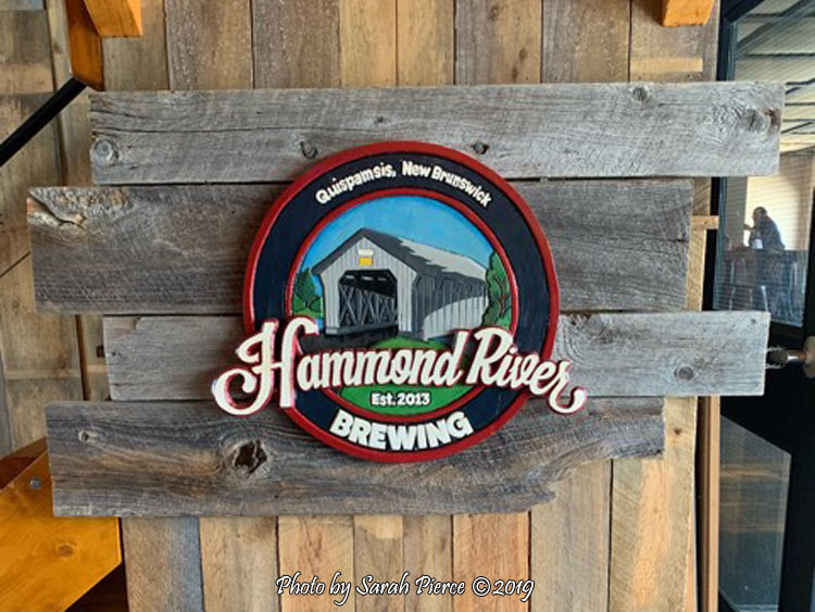 Hammond River Brewing Sign - Sarah Pierce